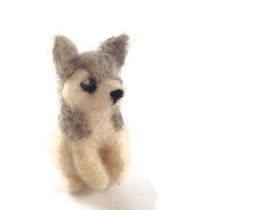 Sweet Little Wolf, https://www.etsy.com/listing/122766048/wolf-fibre-sculpture-needle-felted