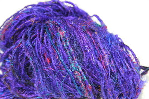 Delicious Violet Silk from Darn Good Yarn. Drool! http://store.darngoodyarn.com/product/lux-adventure-collection-indigo-indian-recycled-sari-yarn