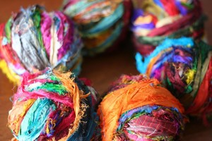 Beautiful Tibetan Ribbons from Darn Good Yarn. My absolute favourite. http://store.darngoodyarn.com/product/silk-sari-strip-ribbon-yarn